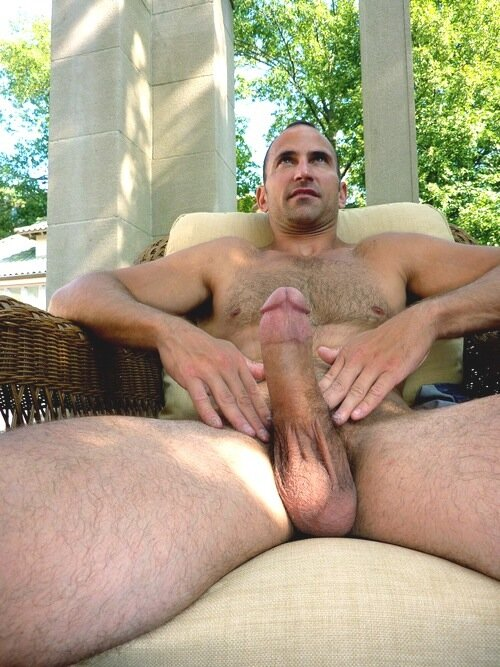 being naked outdoors excites him