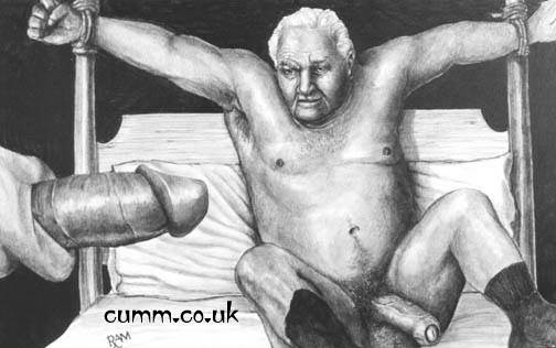 explicit drawings of hung old men