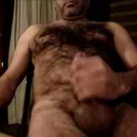 hairy wanker spunks on hairy man body