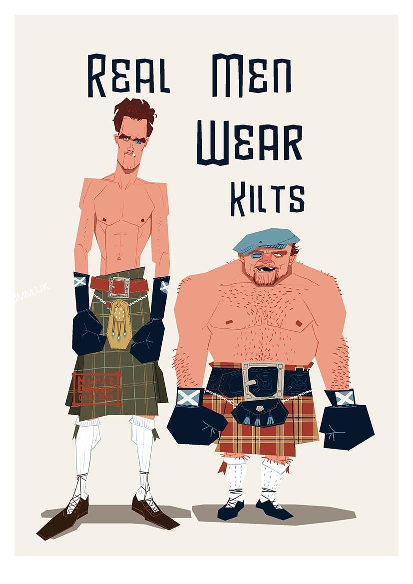 Kilted Big Cocks & Hairy Arses