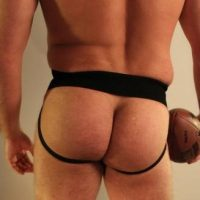 big muscle rugby arse exposed