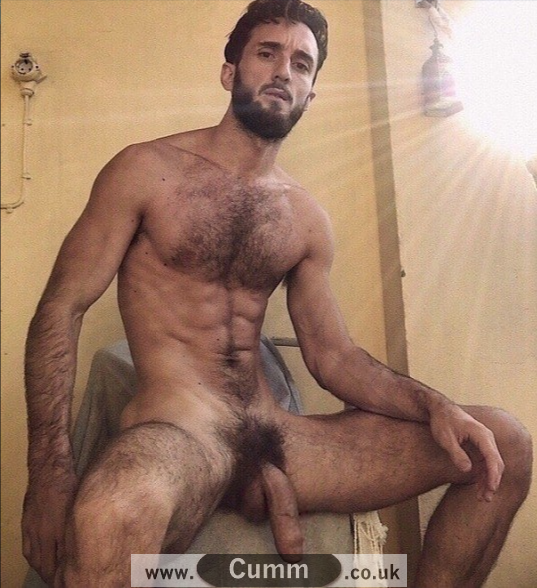 hairy hung young man big flaccid dick
