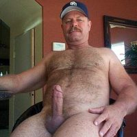 mature older man big cock erect