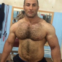 turkish hairy chest wrestler