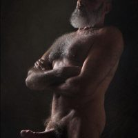 horny naked hung silver daddy beard naked daddy
