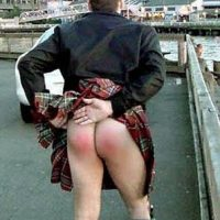 kilted spanked ass