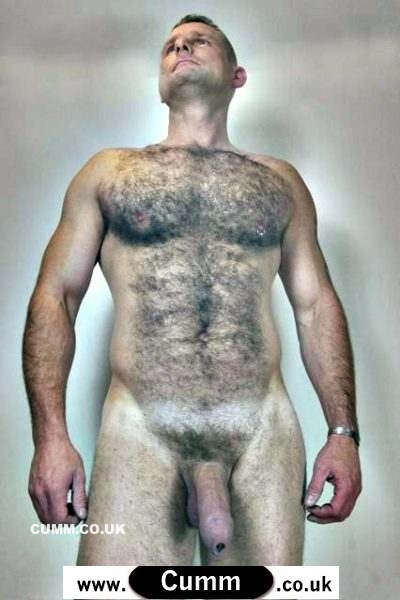 hairy lad with 4skin