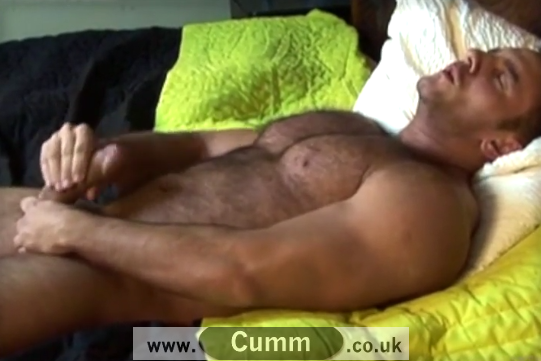Sexy Hairy Daddy Bear Wanks and Spunks
