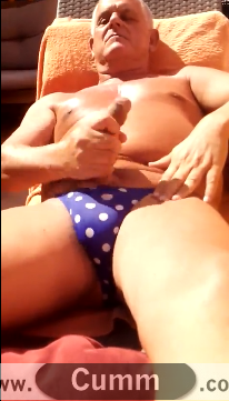 Silver Daddy Models His new budgie smugglers