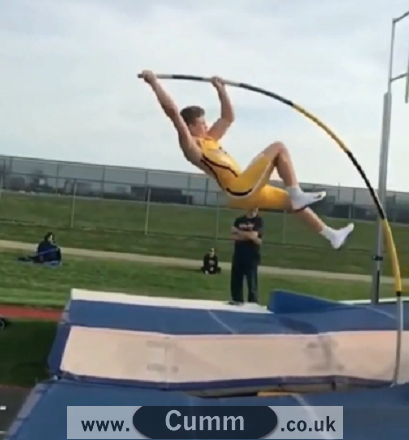 the pole vaulter's bulge