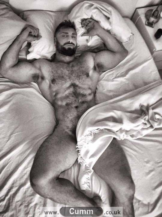 big gay bear naked in bed