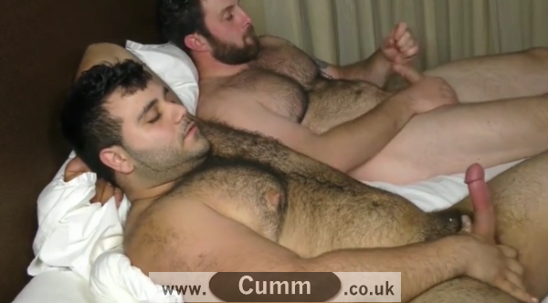 real men self-pleasure together cumm