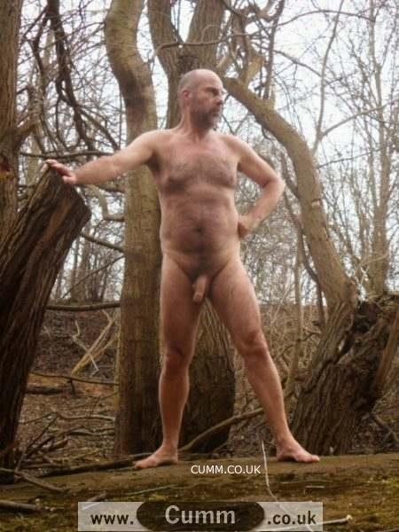 man nude in forest cumm
