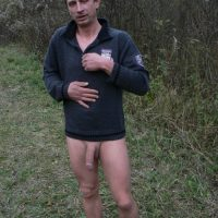 big dicked dude nude in forest