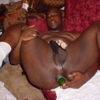 big black and fucked by cucumber
