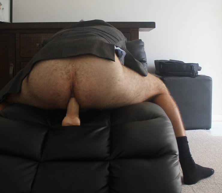hairy arse daddy dildo