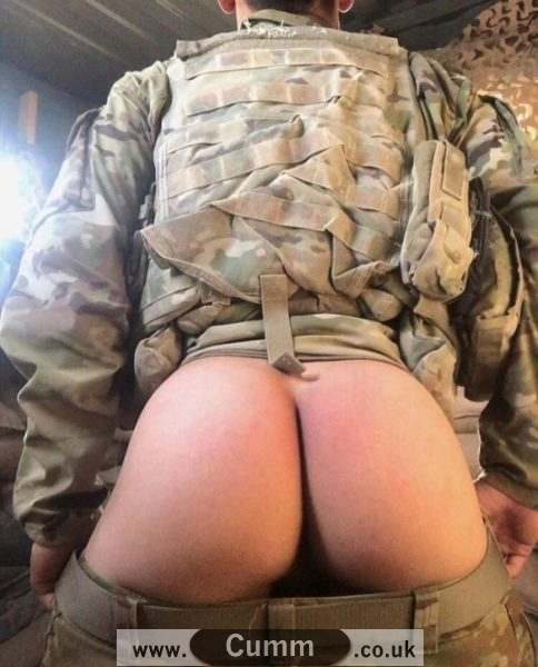 army arse exposed