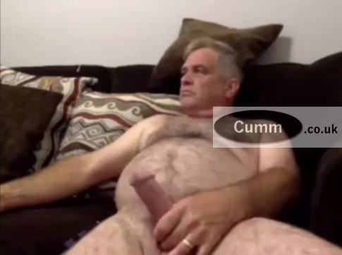 Big Belly Big Cock Wanking Silver Daddy