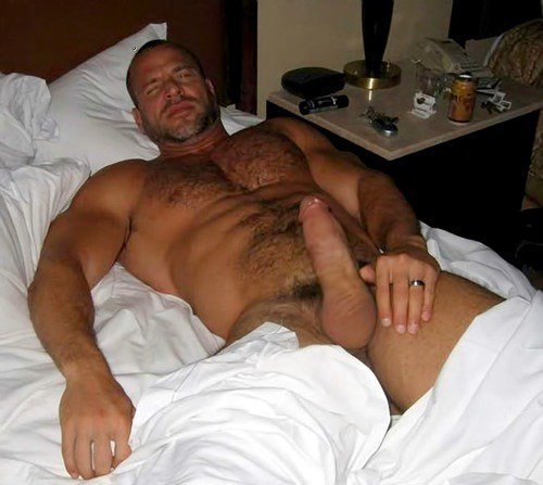 wank in bed daddy