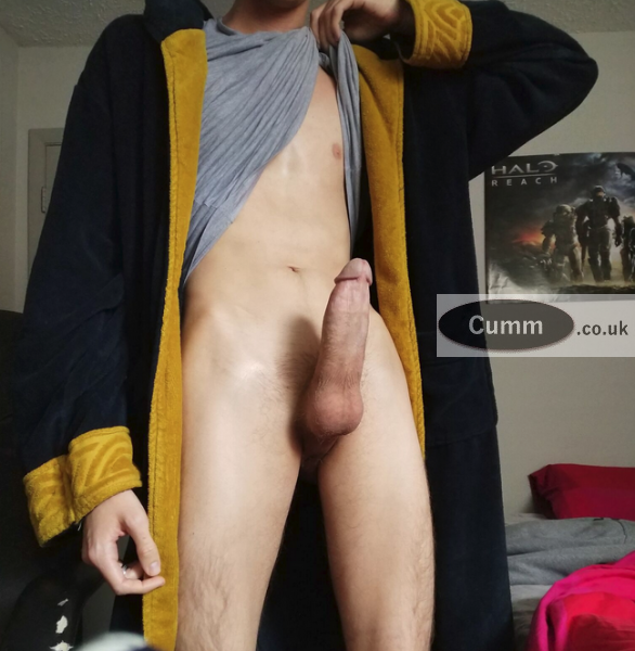 dressing-gown-showing-my-big-cock