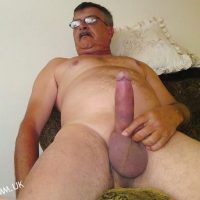 grandpa wanks big cock