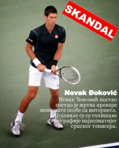 BIG COCK SKANDAL Novak Djokovic