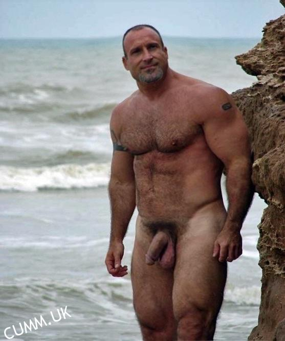 Beach gay with big penis