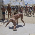 Naked Oil Wrestling at Burning Man Festival