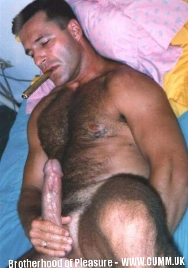 cigar smoking mature wanking