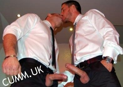 suited wanker 2 cocks exposed