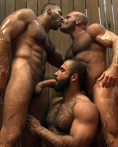 cocksucking muscle bears 3some