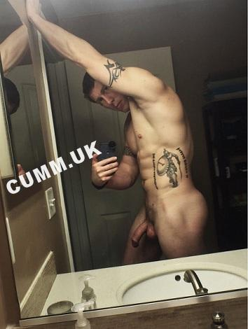 big cock in the mirror