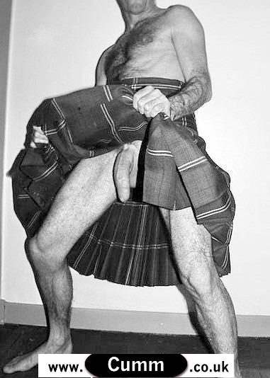 man in kilt big cock exposed