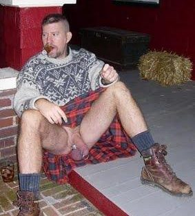 kilt cockring cigar cock exposed