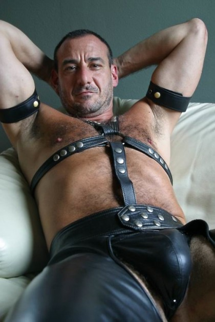 Fat Naked Man In Leather Chaps