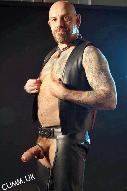 Big cock in leather