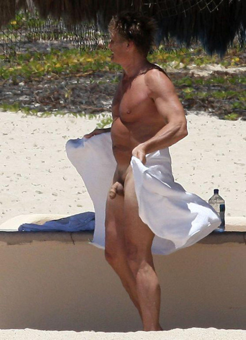 Dolph Lundgren enjoying the Mexican Riviera