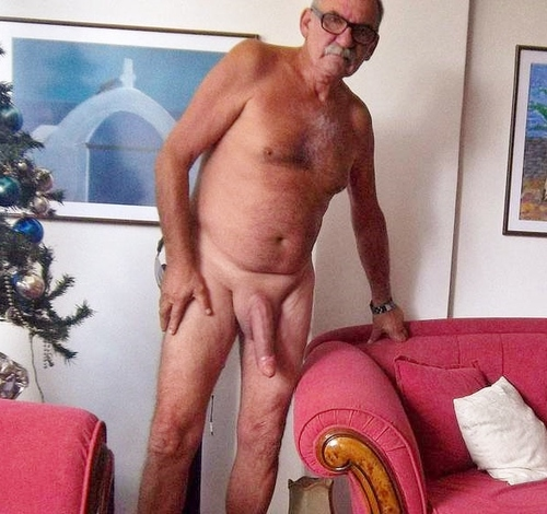 Gay grandpa monster cock