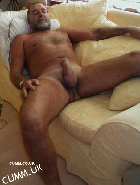 mature sleeping cock exposed