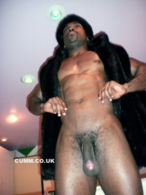 men naked wearing fur