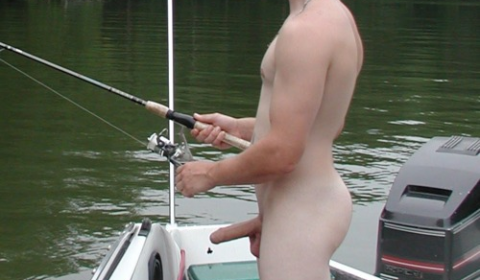 naked erection fishing