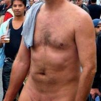 dilf public erections big muscle man cock exposed