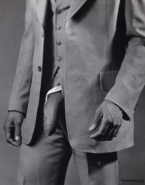 penis art man-in-polyester-suit-by-robert-mappelthorpe