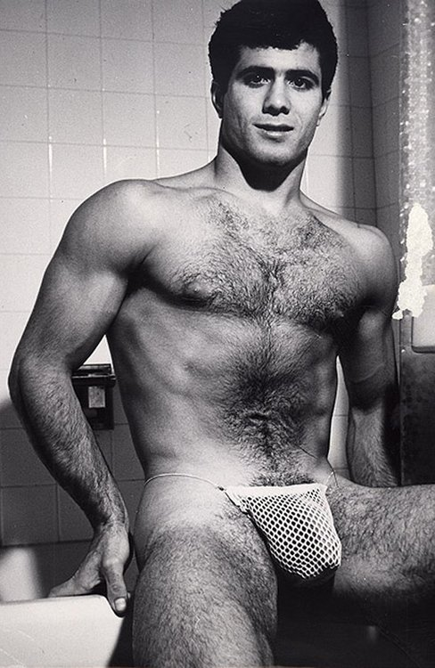 Vintage hairy nude men